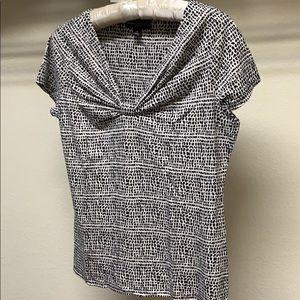 Dana Buchman Black & White Short Sleeves Tops Sz M